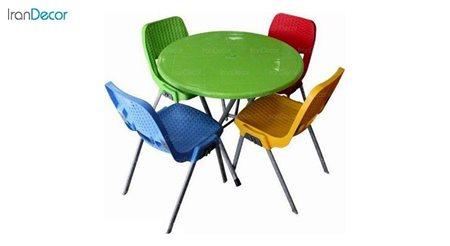 تصویر ست میز و صندلی پلاستیکی گرد ناصر پلاستیک مدل 881722