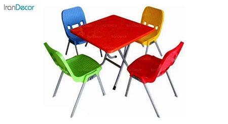 تصویر ست میز و صندلی پلاستیکی مربع ناصر پلاستیک مدل 881723