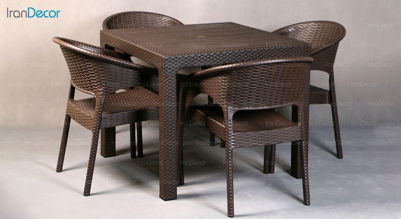 تصویر ست میز و صندلی پلاستیکی مربع ناصر پلاستیک مدل 992323