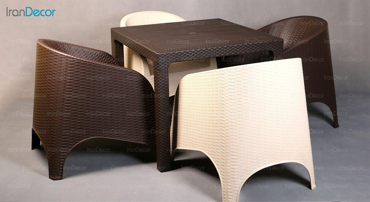 تصویر ست میز و مبل پلاستیکی مربع ناصر پلاستیک مدل 890323