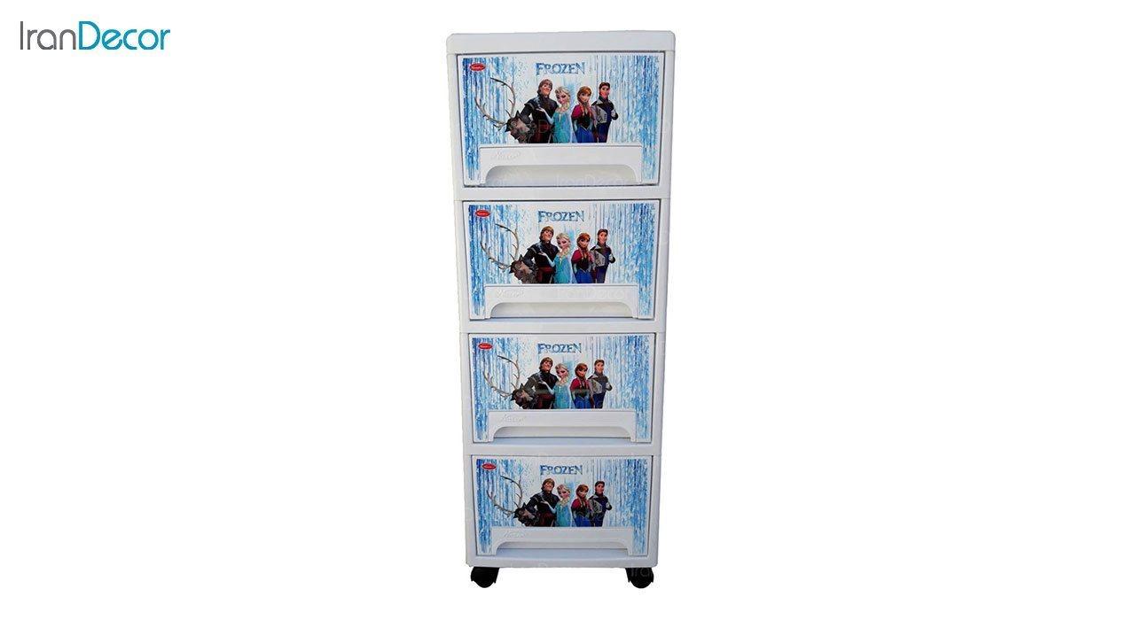 عکس فایل پلاستیکی چهار کشو ناصر پلاستیک مدل فروزن کد 544L