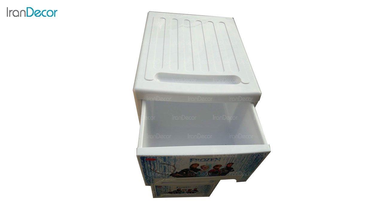 تصویر فایل پلاستیکی چهار کشو ناصر پلاستیک مدل فروزن کد 544L