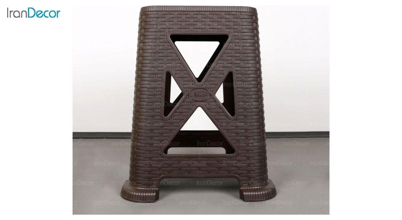 عکس چهارپایه پلاستیکی ناصر پلاستیک مدل 867