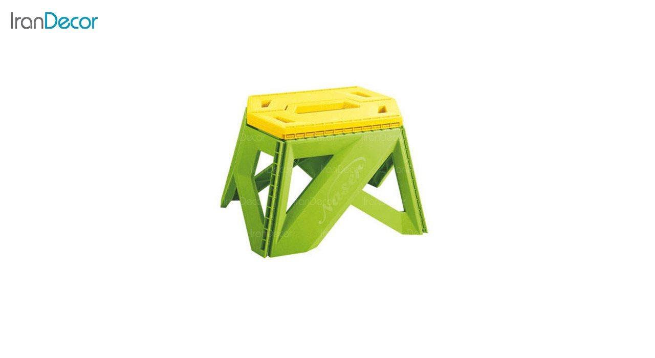 تصویر چهارپایه تاشو پلاستیکی ناصر پلاستیک مدل 616