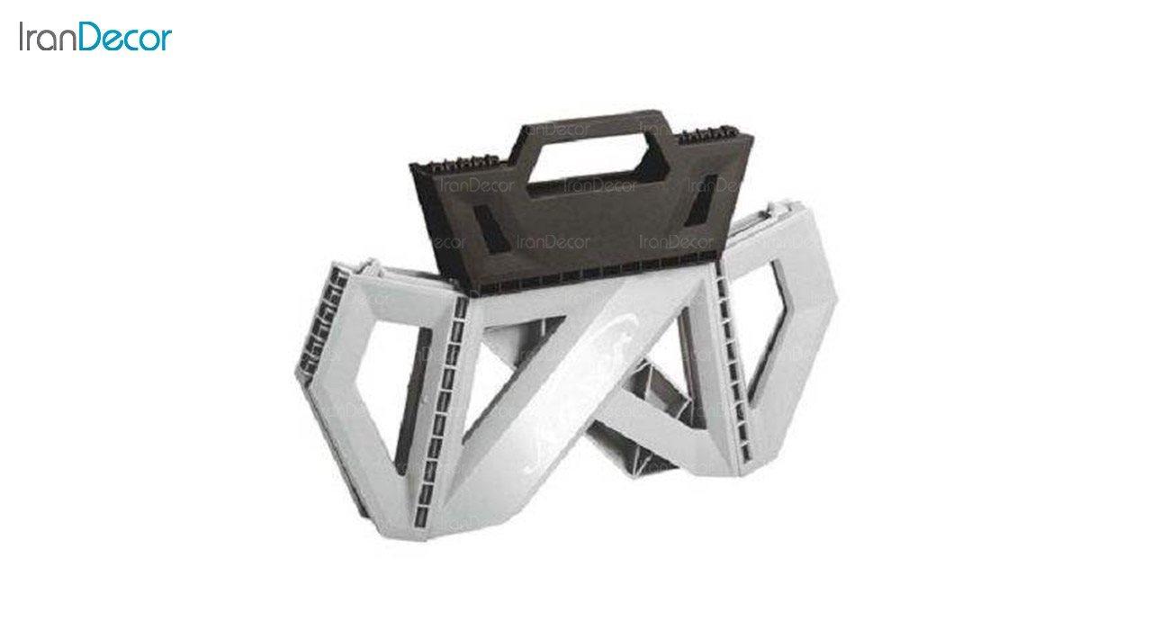 عکس چهارپایه تاشو پلاستیکی ناصر پلاستیک مدل 616