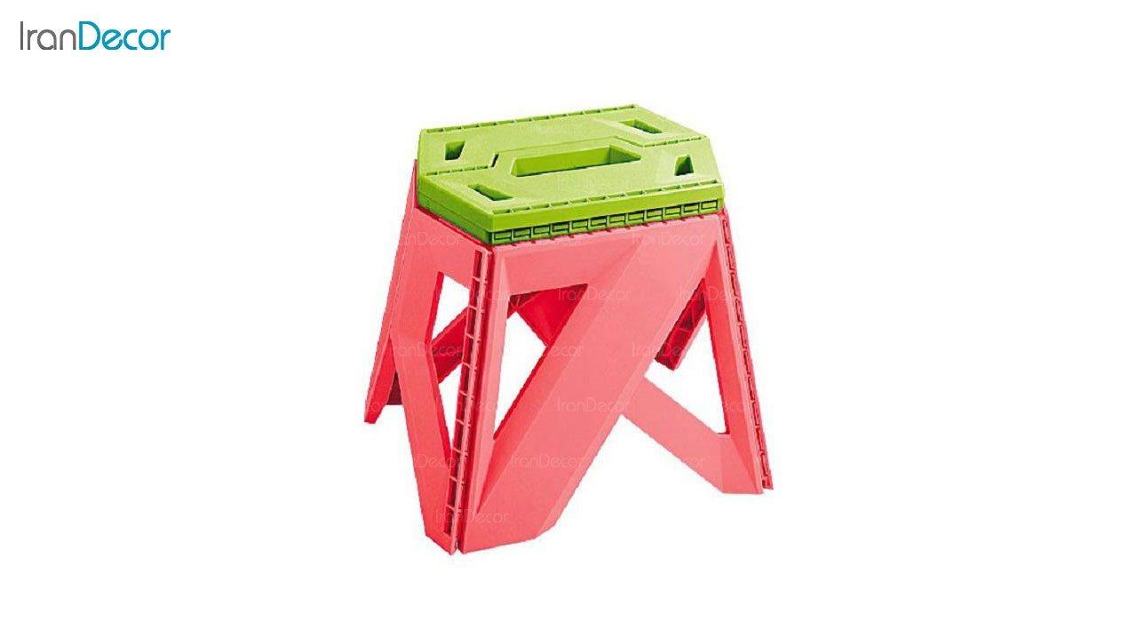 تصویر چهارپایه تاشو پلاستیکی ناصر پلاستیک مدل 617