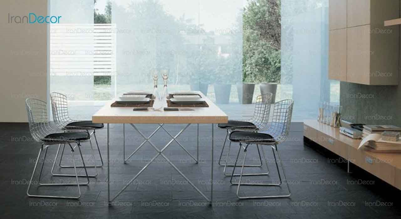 صندلی برتویا کروم مدل N102 از صنایع نظری