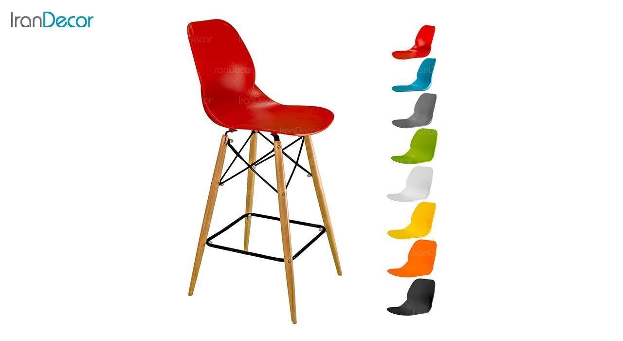 تصویر صندلی اپن بنیزان مدل کندو کد K600 با پایه چوبی