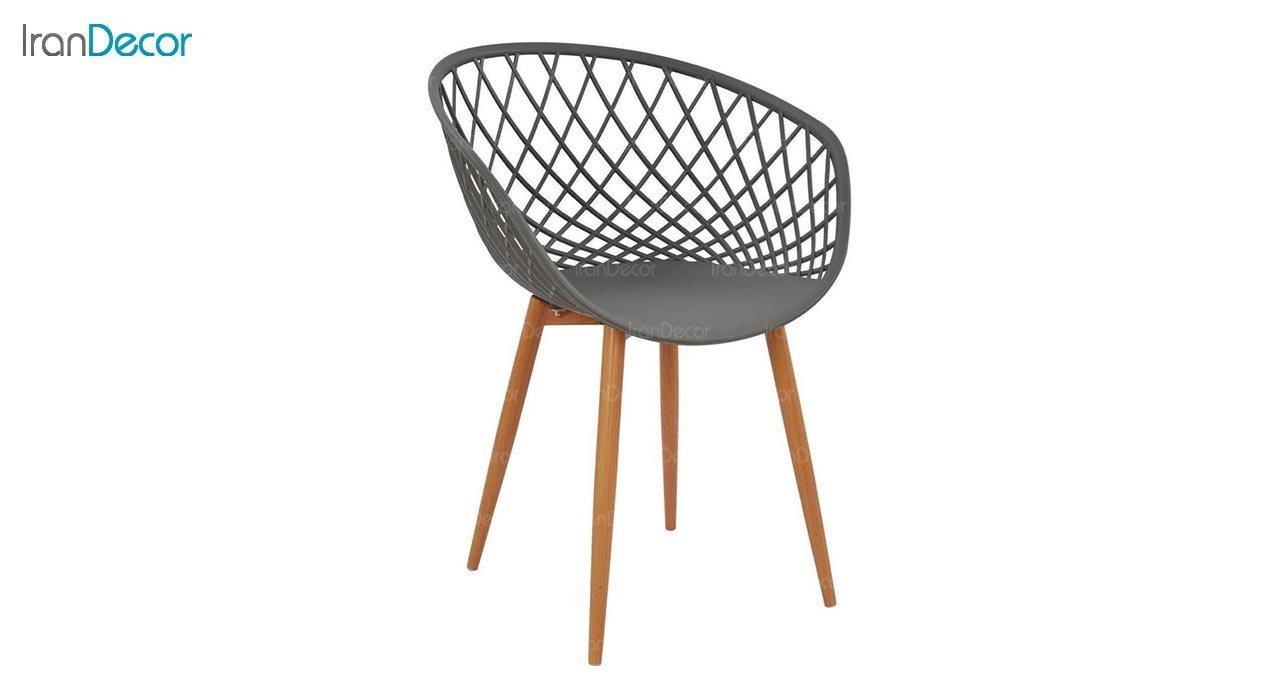 تصویر صندلی پایه فلزی بنیزان مدل بامبو کد BA570S