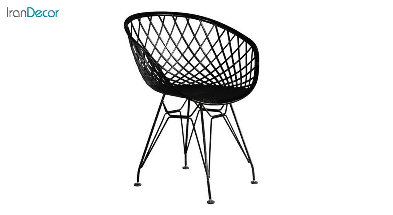 تصویر صندلی پایه فلزی ایفلی بنیزان مدل بامبو کد BA530S