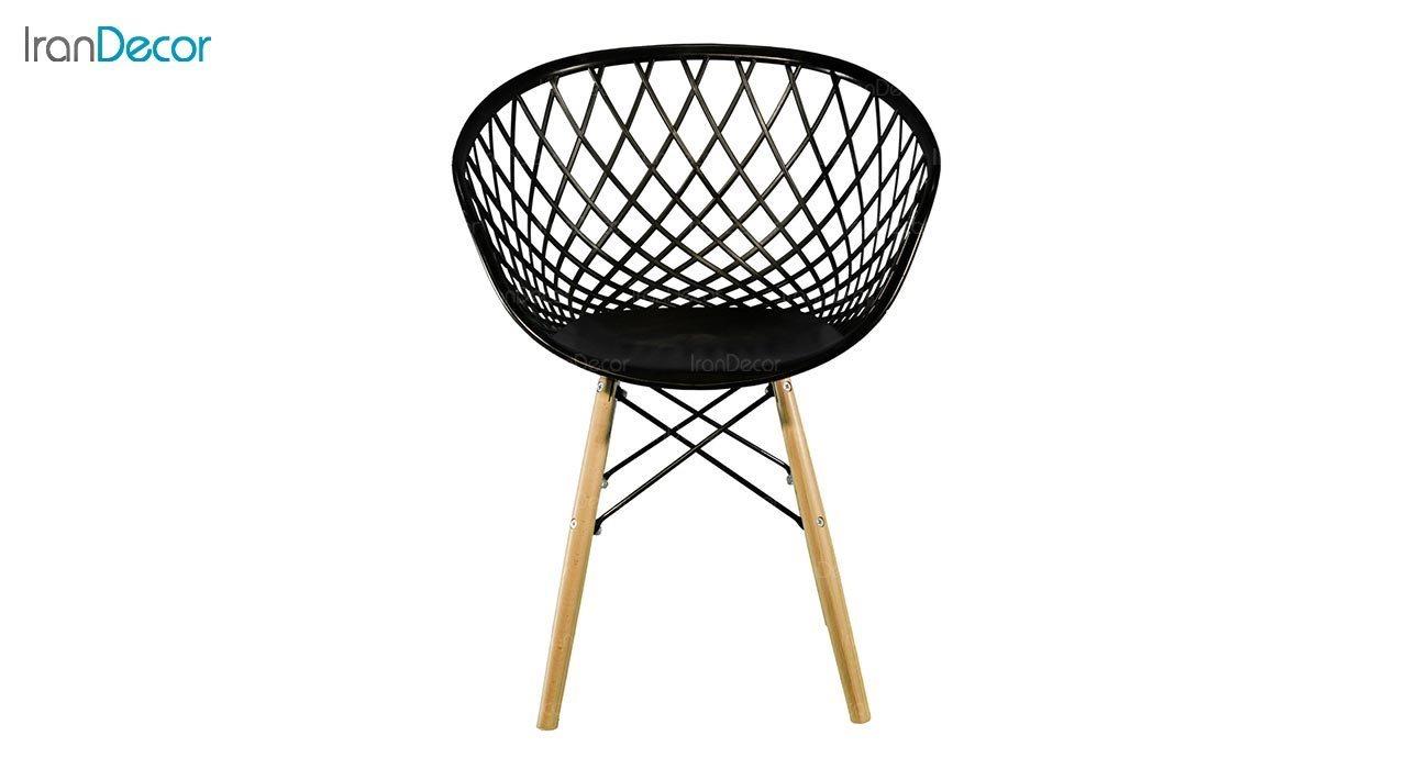 عکس صندلی پایه ایفلی چوبی بنیزان مدل بامبو کد BA500