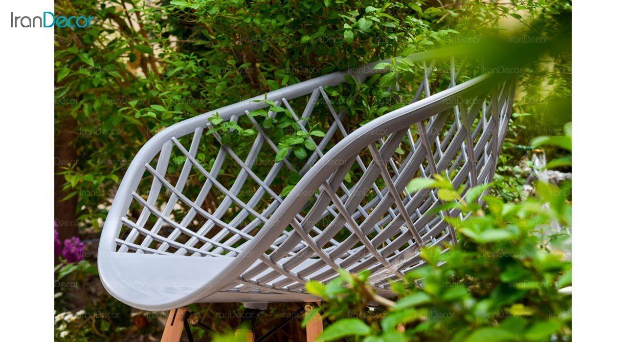 تصویر صندلی پایه ایفلی چوبی بنیزان مدل بامبو کد BA500