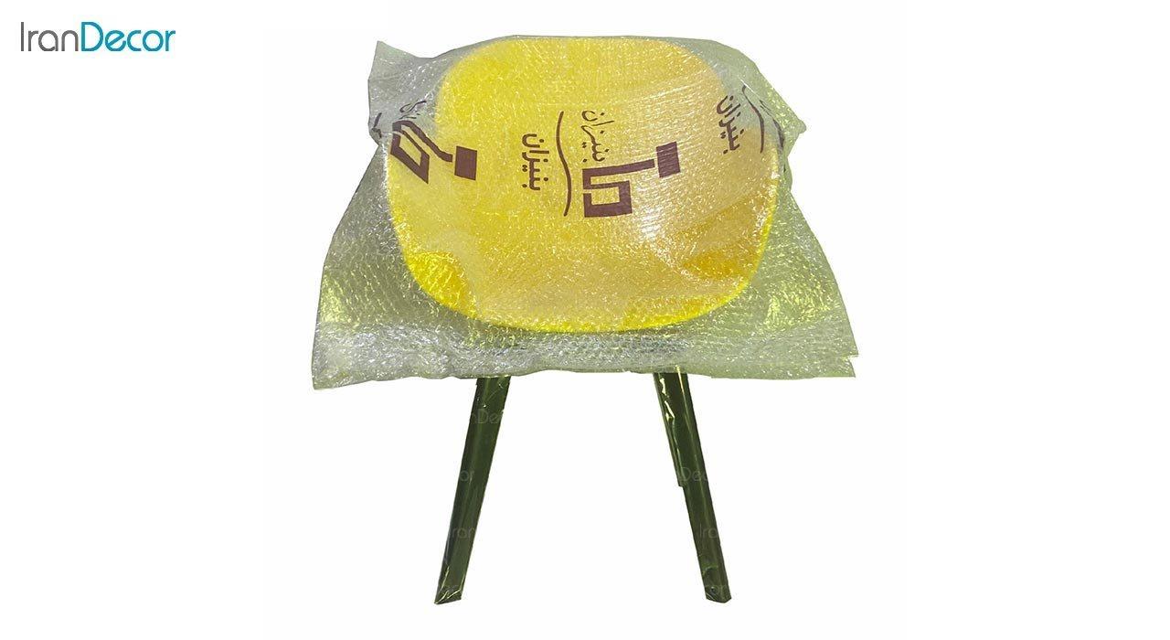 تصویر صندلی دسته دار پلاستیکی بنیزان مدل صدف کد S520