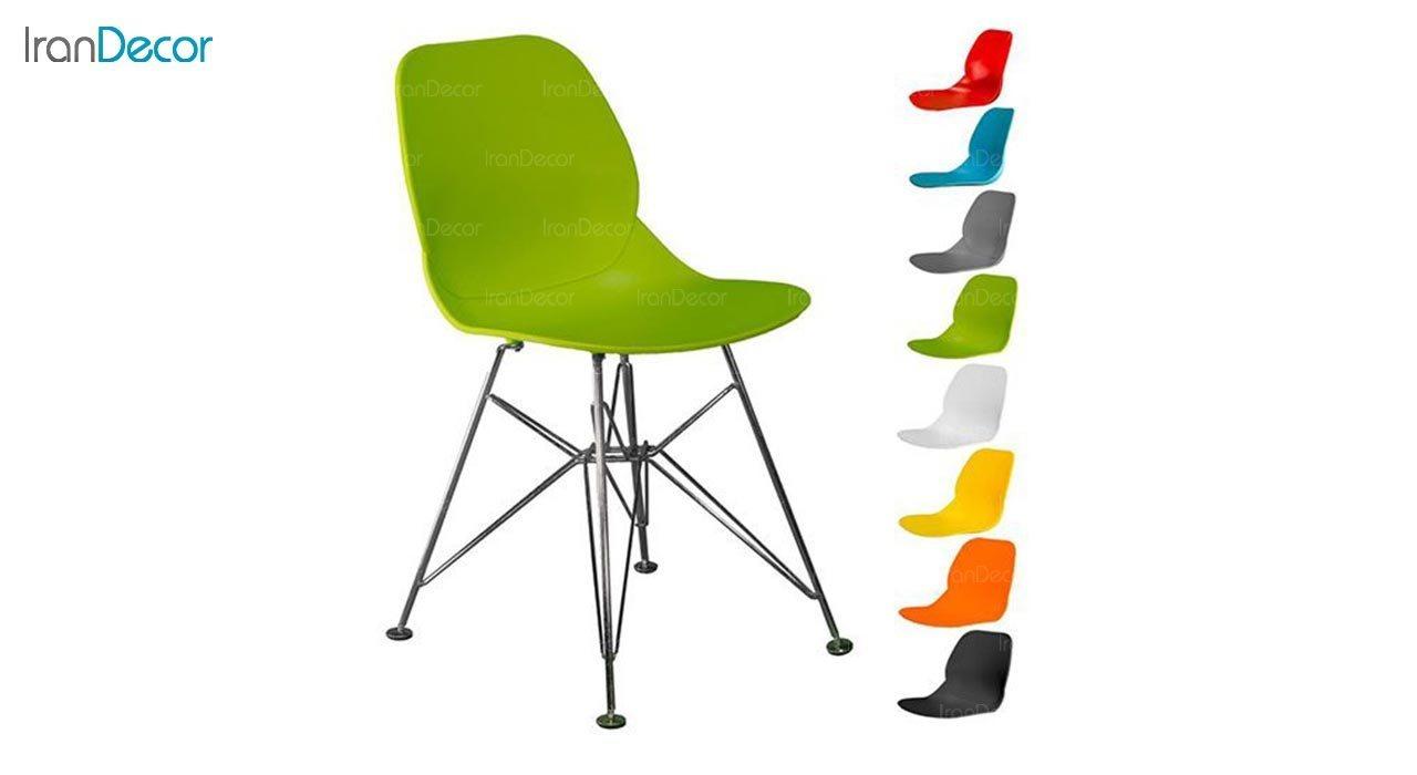 تصویر صندلی پایه درختی فلزی بنیزان مدل کندو کد K560