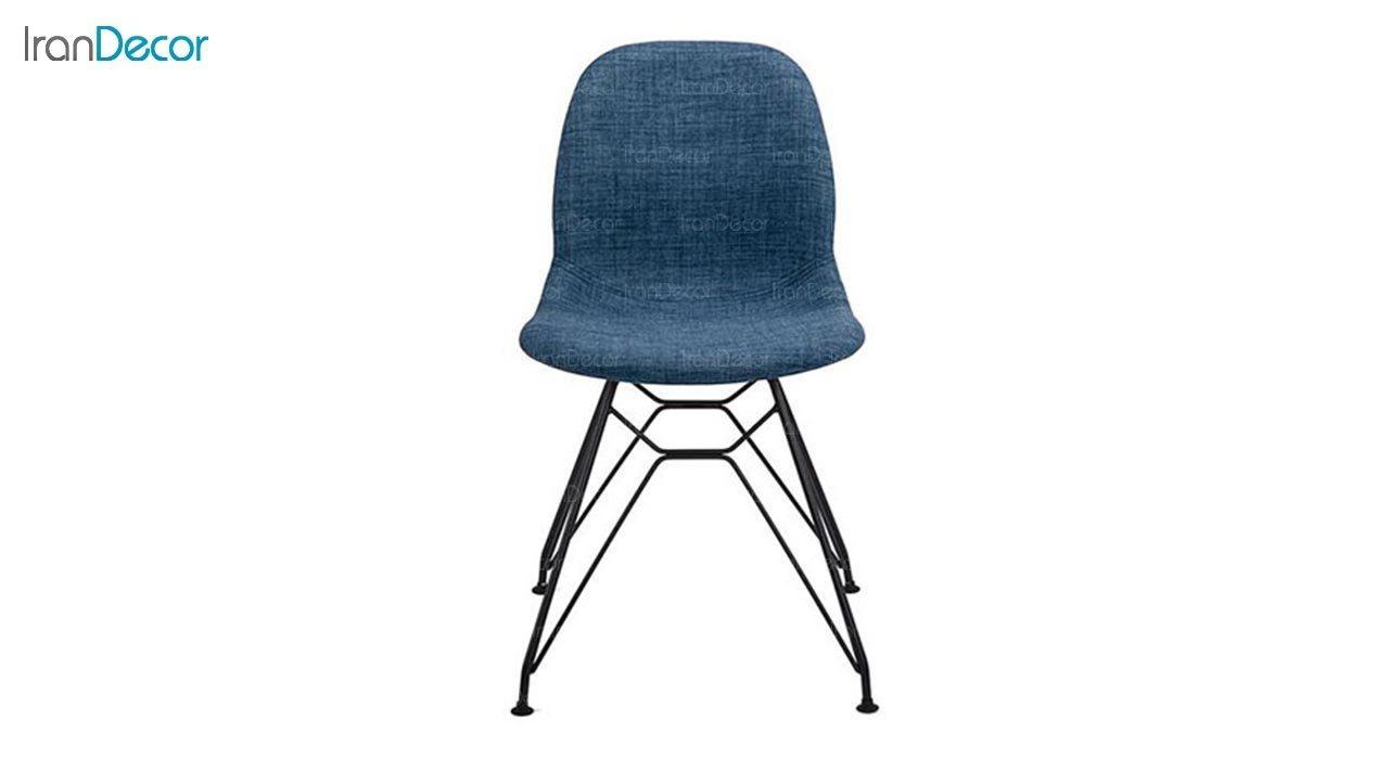 تصویر صندلی پایه ایفلی فلزی بنیزان مدل کندو کد K530S با رویه پارچه