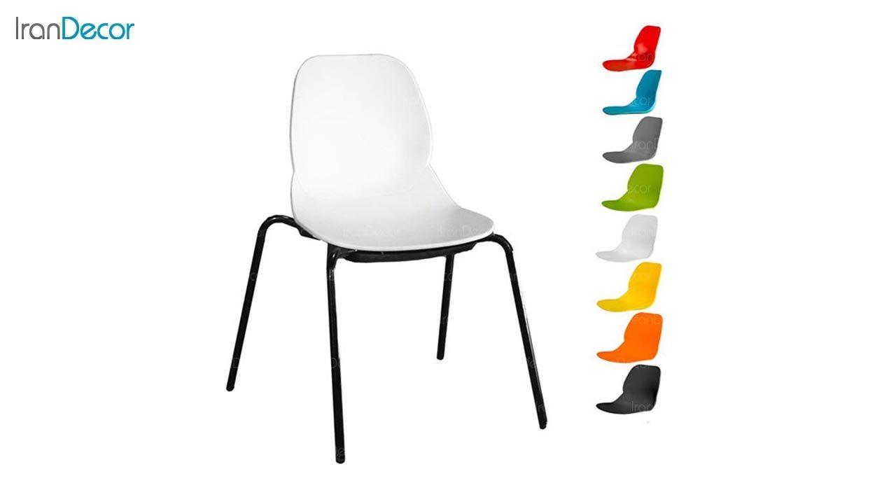 تصویر صندلی پایه خرچنگی فلزی بنیزان مدل کندو کد K540S