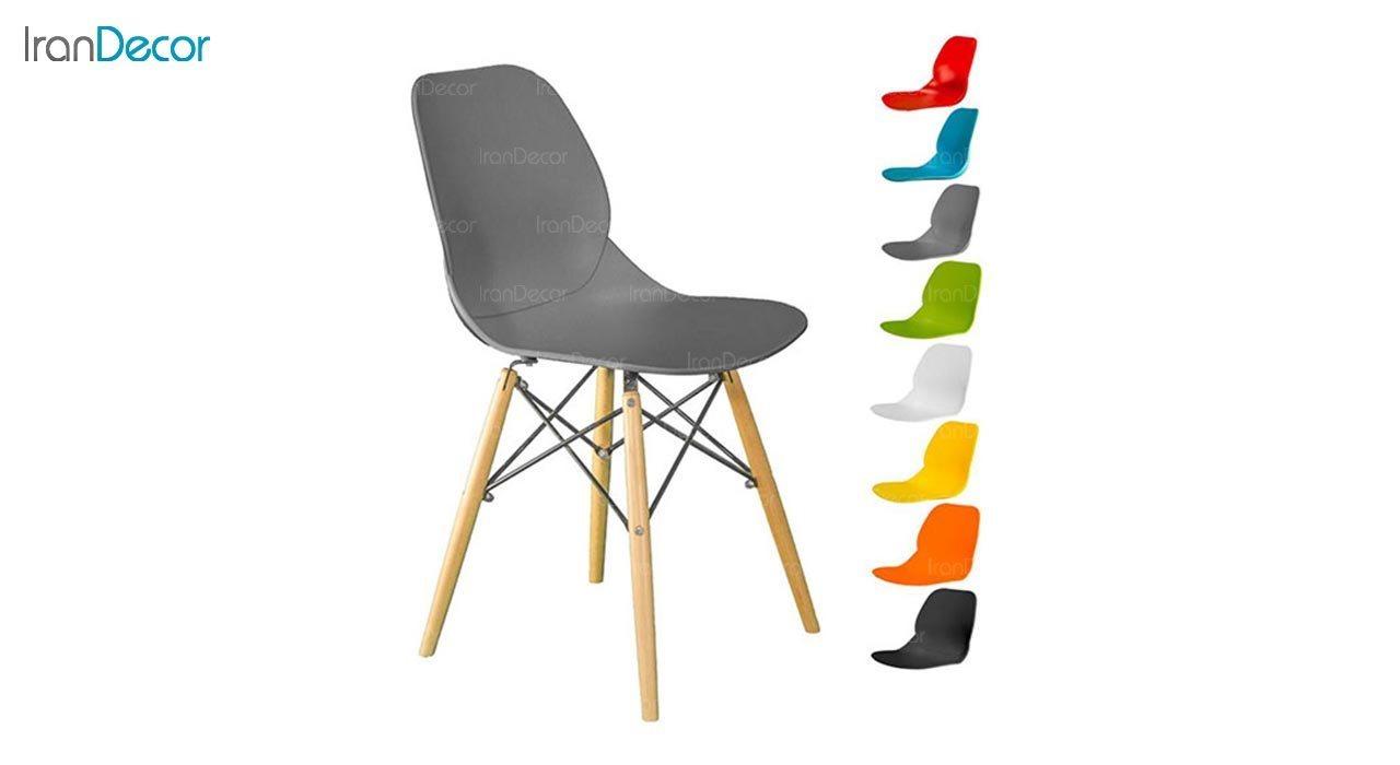تصویر صندلی پایه ایفلی چوبی بنیزان مدل کندو کد K500