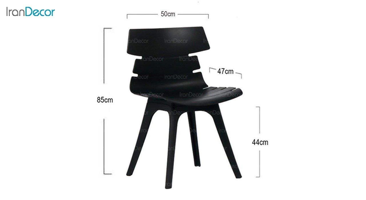 تصویر صندلی پلاستیکی بنیزان مدل مرجان کد M520
