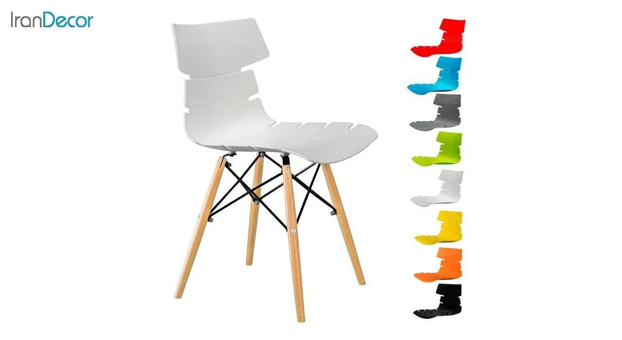 عکس صندلی پایه ایفلی چوبی بنیزان مدل مرجان کد M500