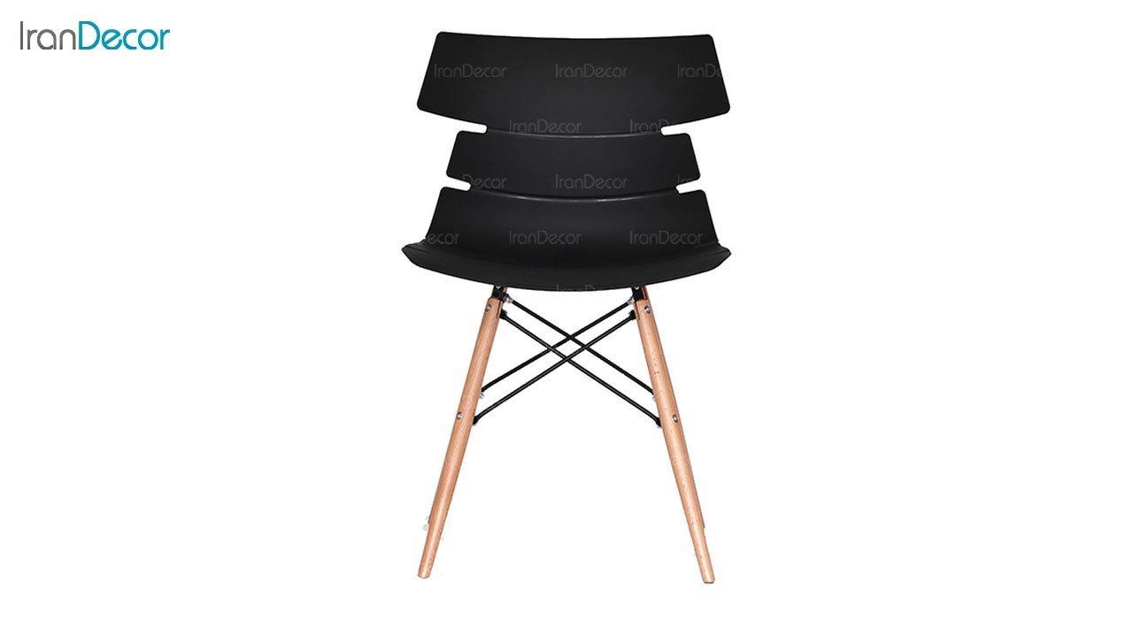 تصویر صندلی پایه ایفلی چوبی بنیزان مدل مرجان کد M500