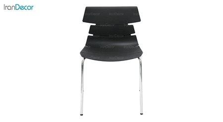 تصویر صندلی پایه خرچنگی فلزی بنیزان مدل مرجان کد M540