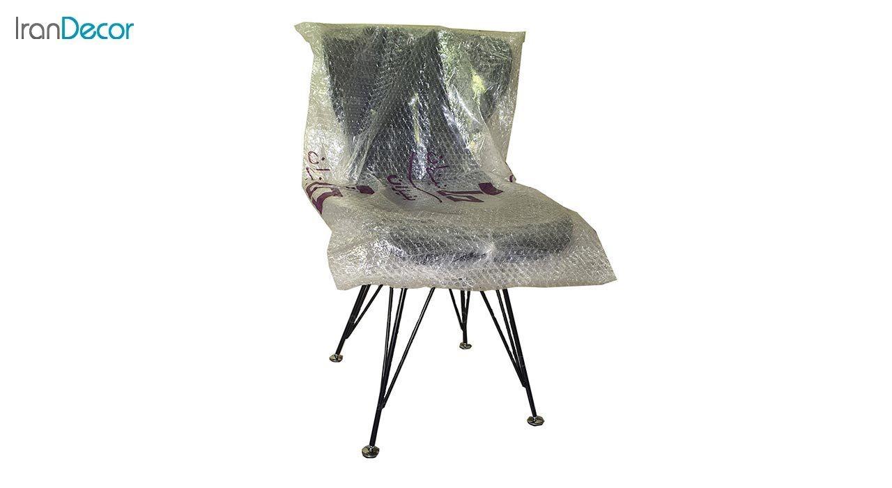 تصویر صندلی پایه ایفلی فلزی بنیزان مدل دیاموند کد B530S