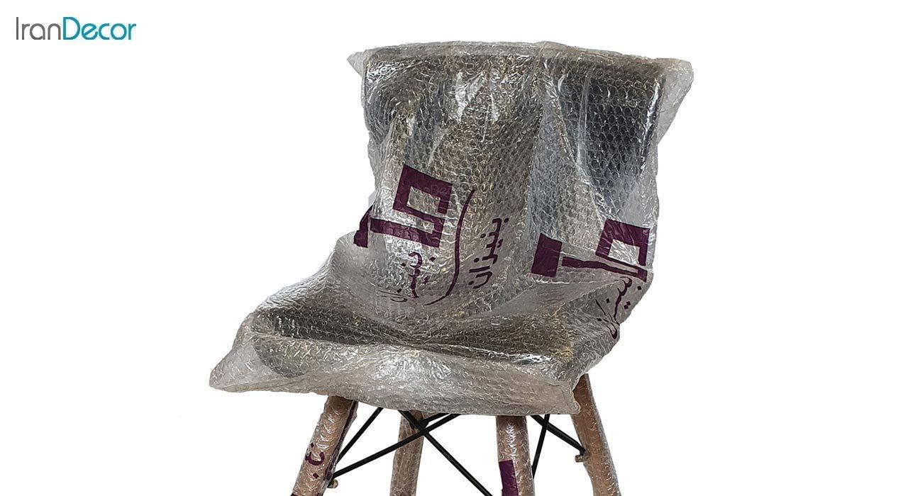 تصویر صندلی پایه ایفلی چوبی بنیزان مدل دیاموند کد B500