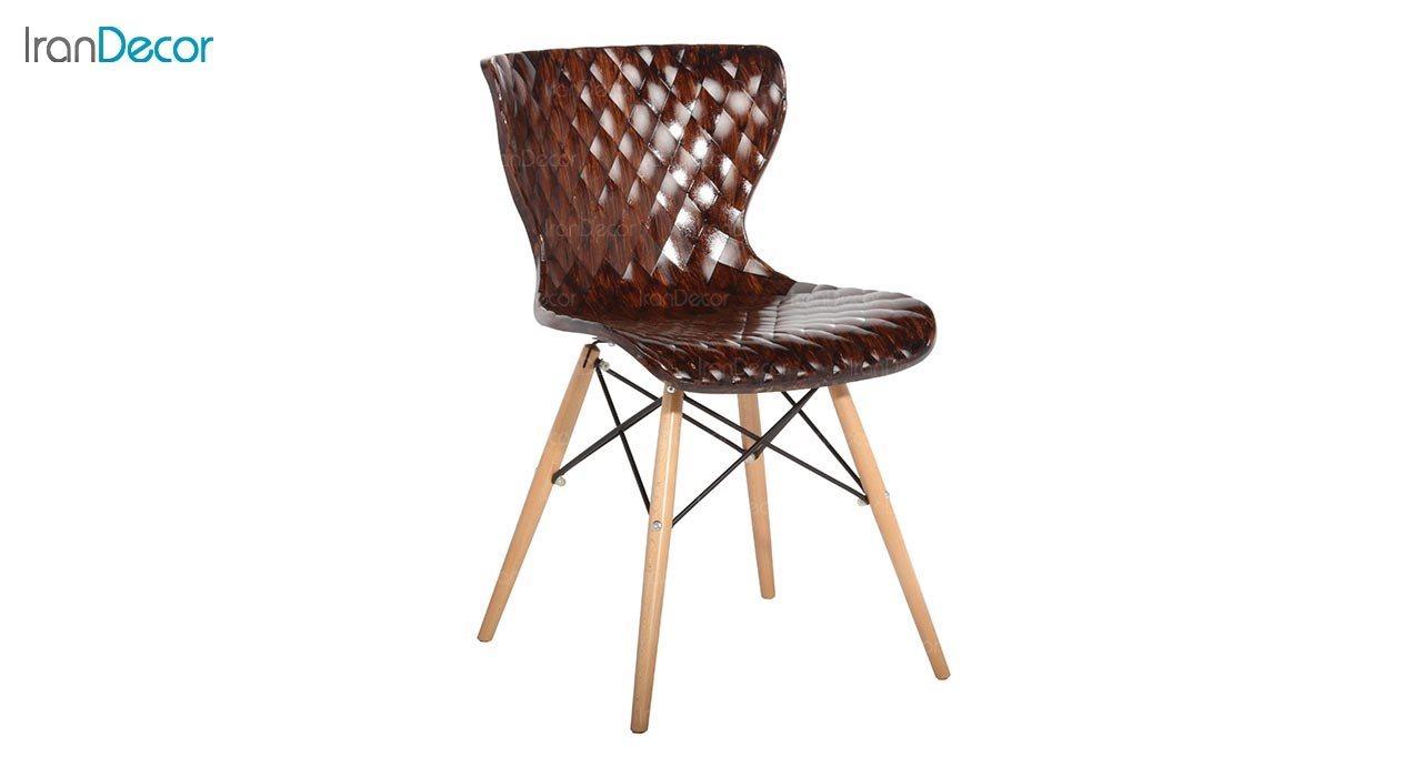 عکس صندلی پایه ایفلی چوبی بنیزان مدل دیاموند کد B500