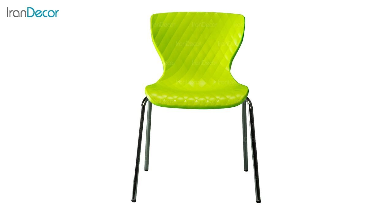 تصویر صندلی پایه خرچنگی فلزی بنیزان مدل دیاموند کد B540