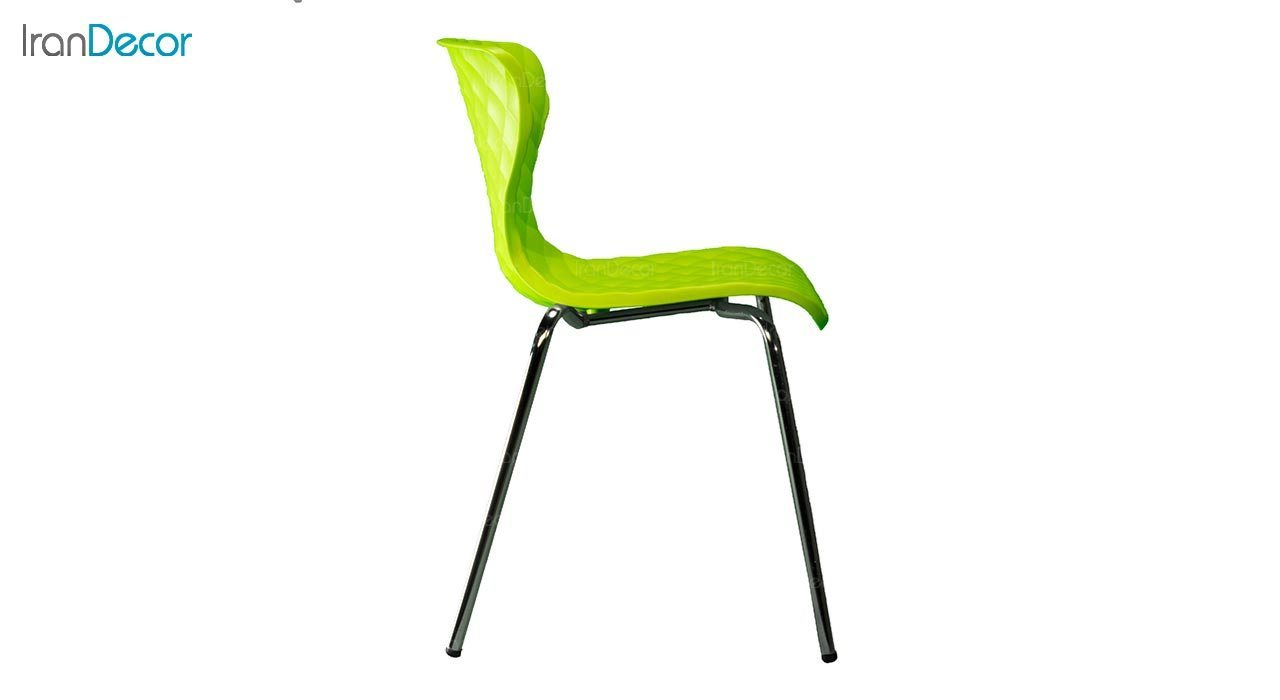 عکس صندلی پایه خرچنگی فلزی بنیزان مدل دیاموند کد B540