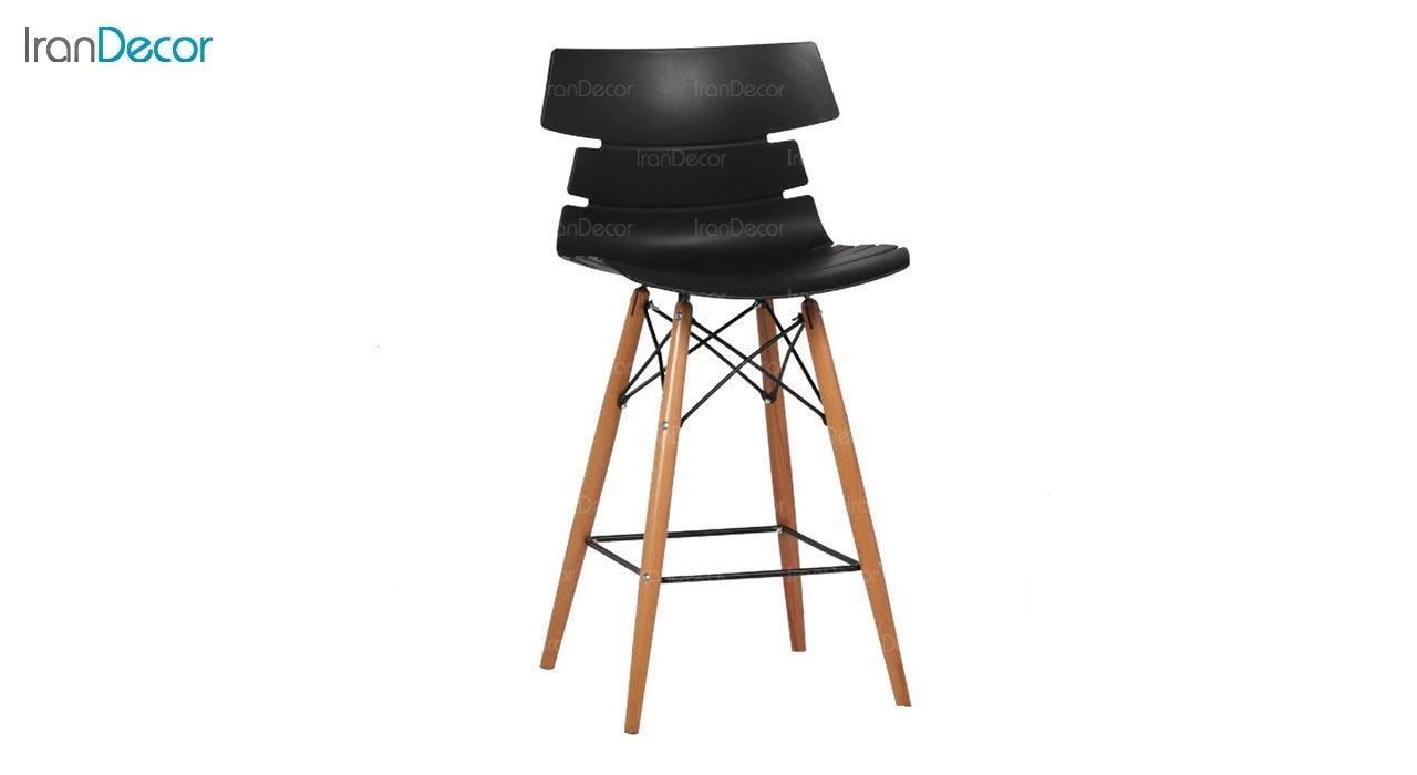 تصویر صندلی اپن پایه چوبی بنیزان مدل مرجان کد M600