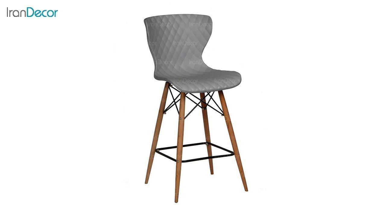 عکس صندلی اپن پایه چوبی بنیزان مدل دیاموند کد B600