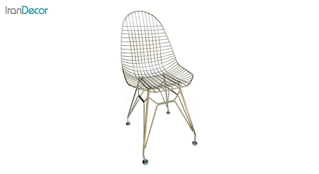 تصویر صندلی پایه ایفلی فلزی بنیزان مدل پاپیتال کد P530G طلایی