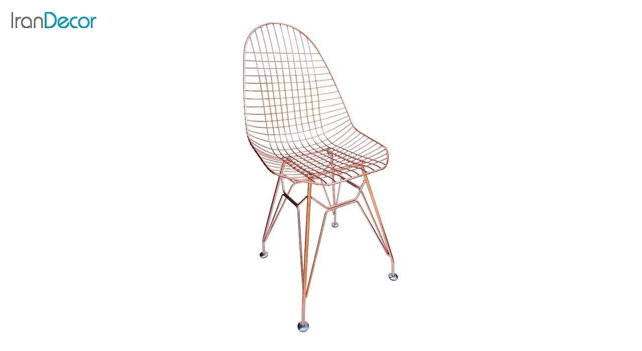 تصویر صندلی پایه ایفلی فلزی بنیزان مدل پاپیتال کد P530RG رزگلد
