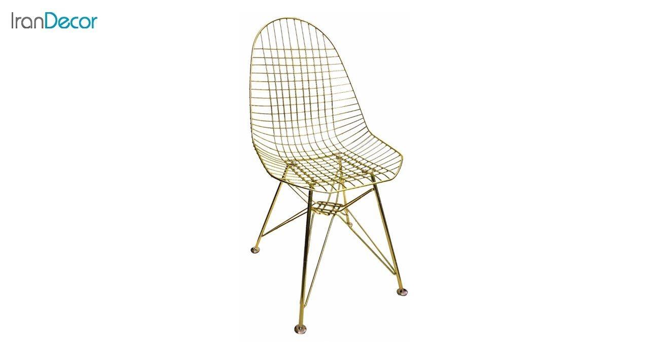 تصویر صندلی پایه درختی فلزی بنیزان مدل پاپیتال کد P560G طلایی