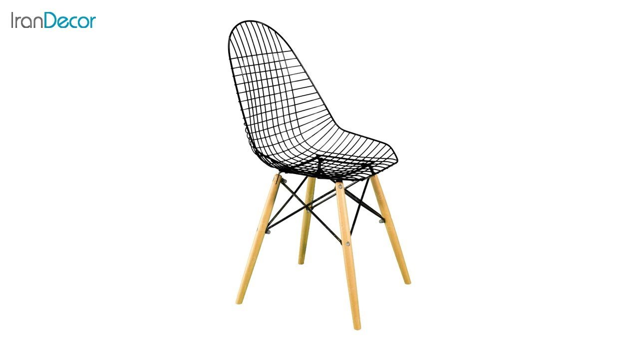 تصویر صندلی پایه ایفلی چوبی بنیزان مدل پاپیتال کد PS500