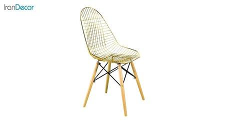 تصویر صندلی پایه ایفلی چوبی بنیزان مدل پاپیتال کد PG500 طلایی