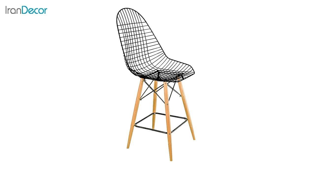 تصویر صندلی اپن پایه چوبی بنیزان مدل پاپیتال کد P600