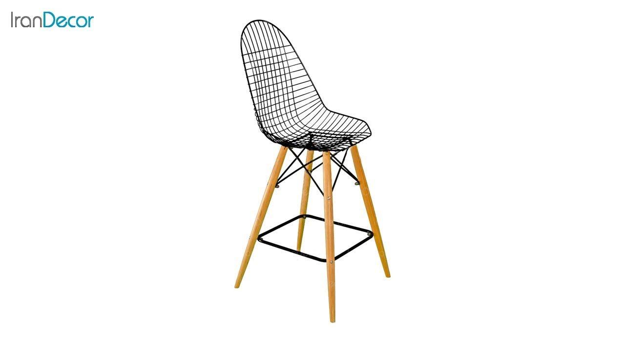 عکس صندلی اپن پایه چوبی بنیزان مدل پاپیتال کد P600