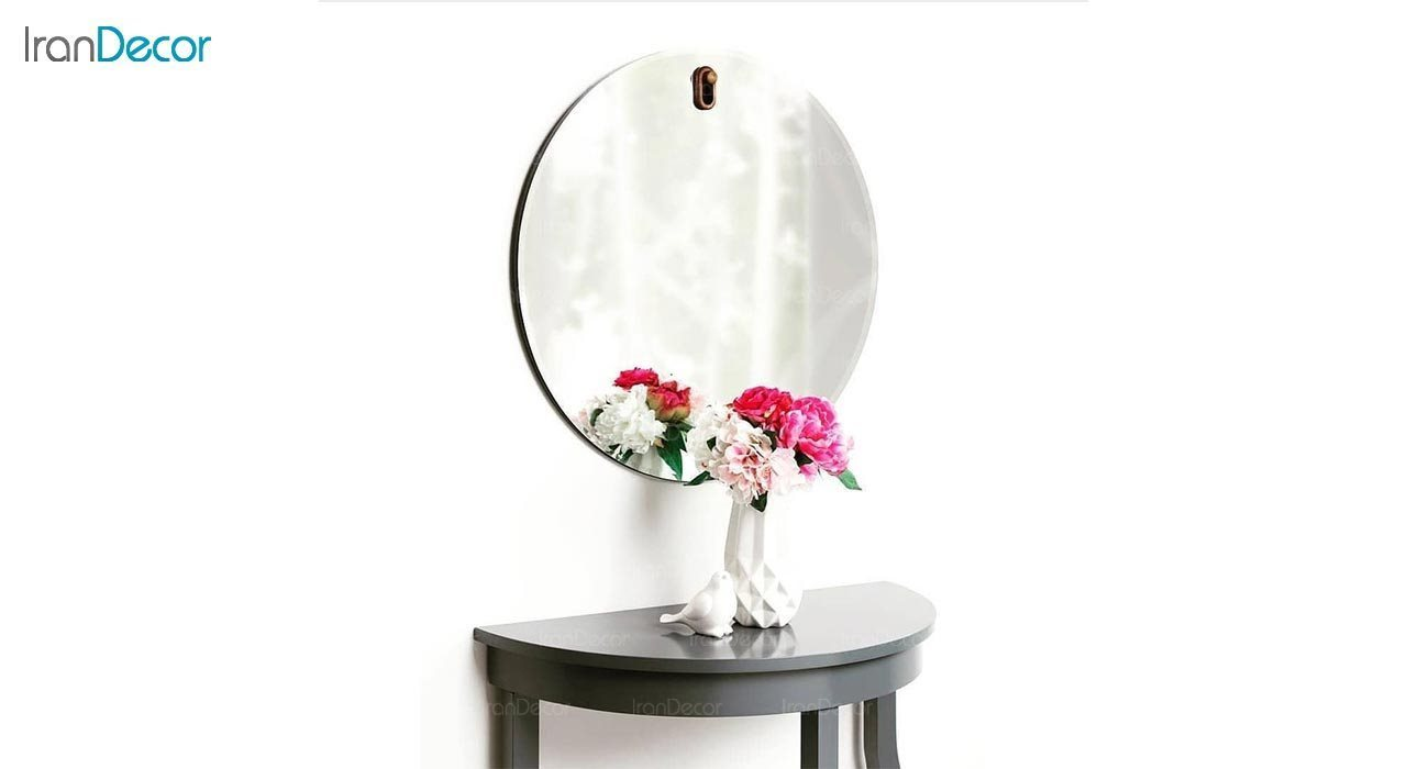 عکس آینه گرد دیواری مدل پین کد FC