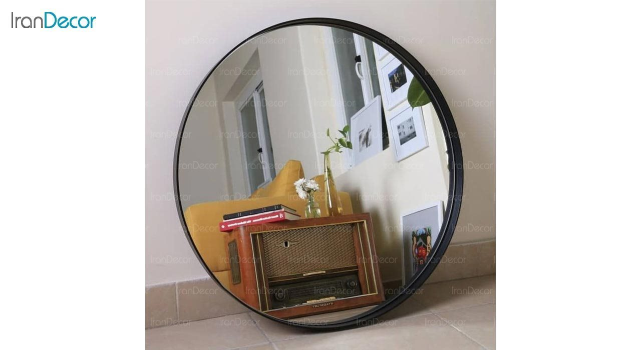 تصویر آینه گرد دیواری مدل مون کد MC