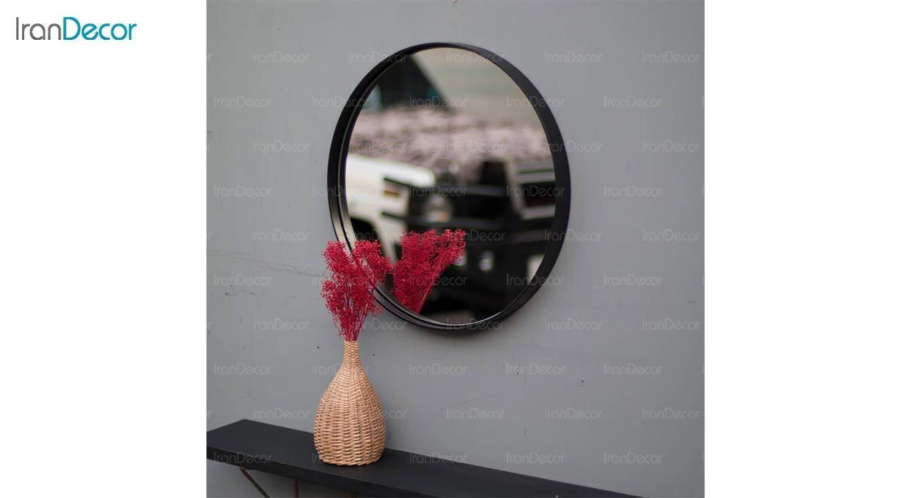 عکس آینه گرد دیواری مدل ماه کد MC