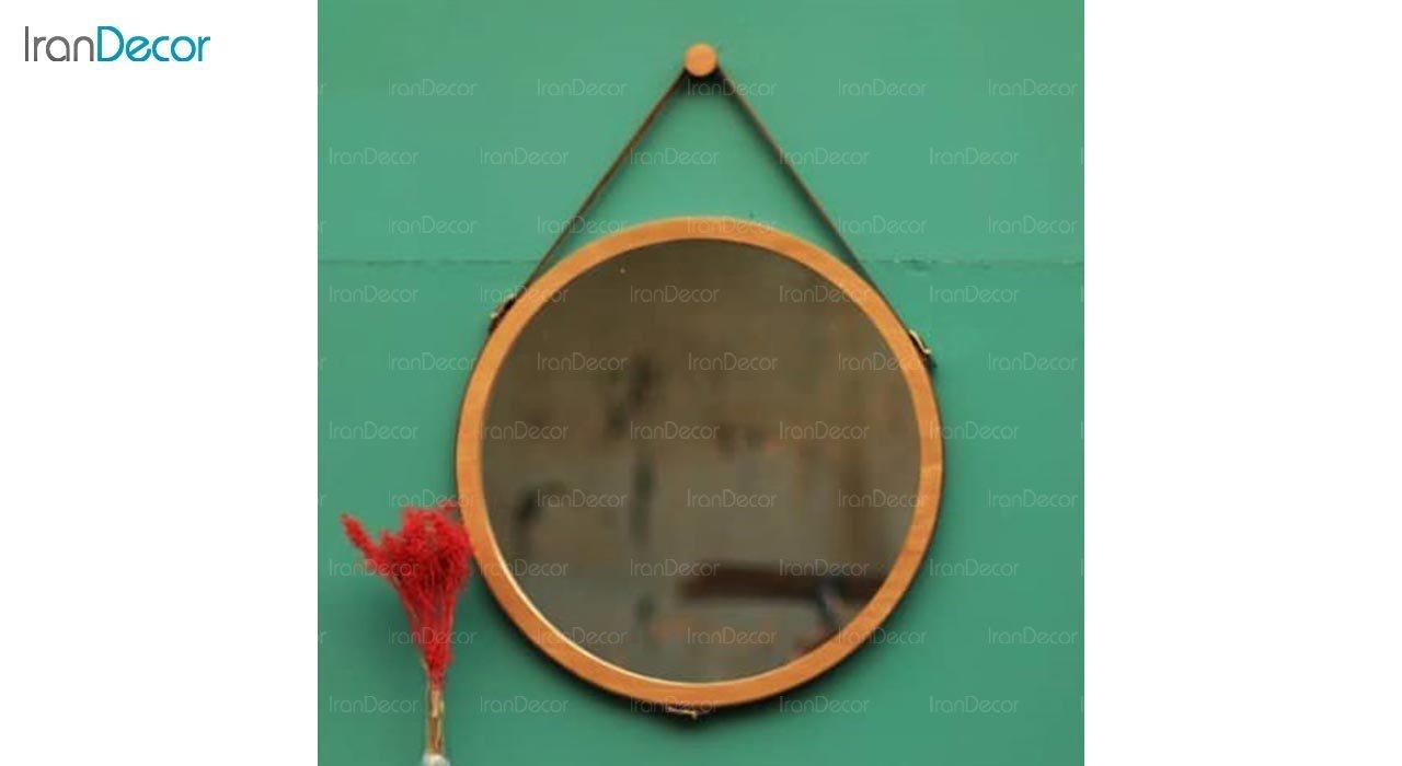 تصویر آینه گرد دیواری مدل اسکین کد ML