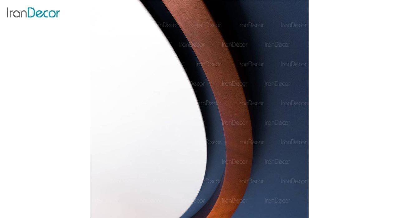 تصویر آینه گرد دیواری مدل هورنو کد RB