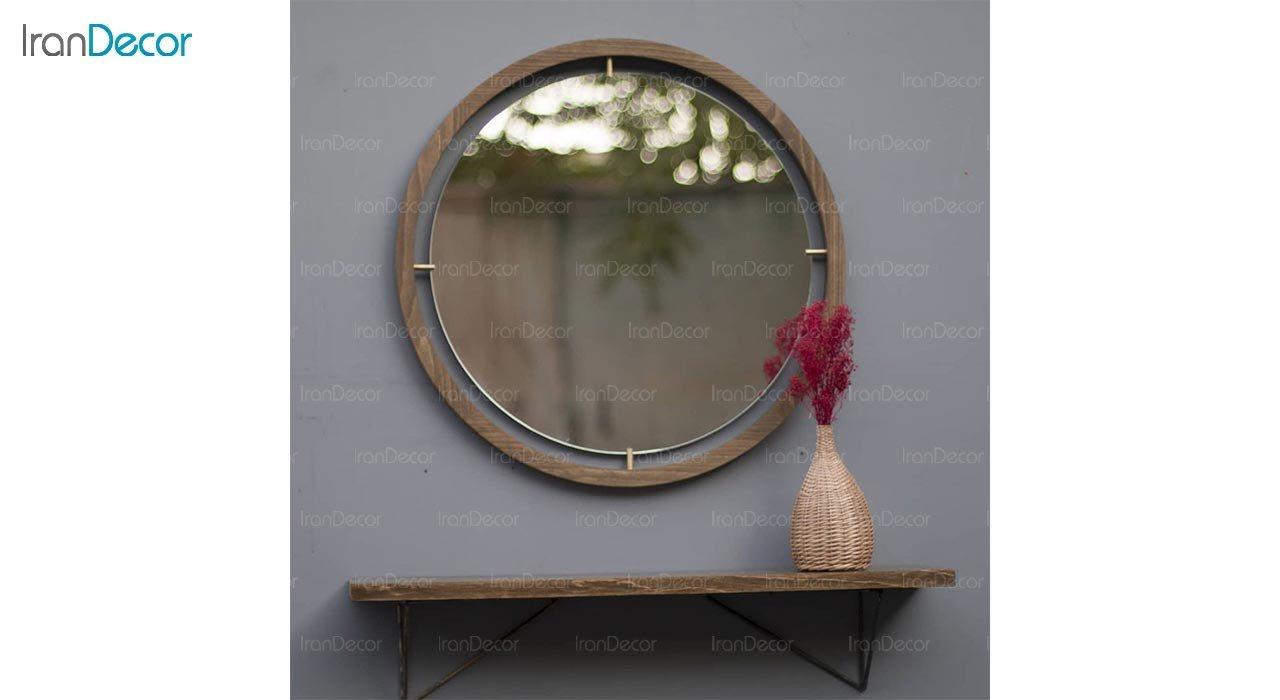 عکس آینه گرد دیواری مدل هورنو کد RB