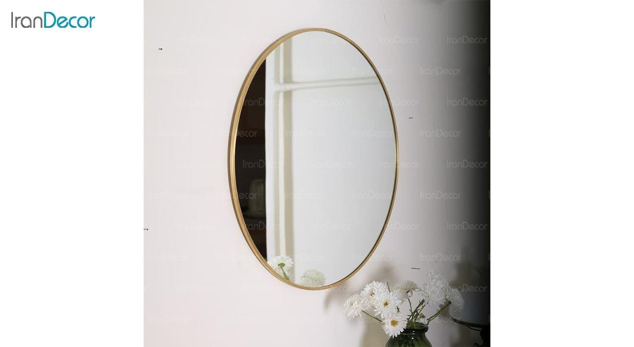 تصویر آینه گرد دیواری مدل استیل 304 کد ST