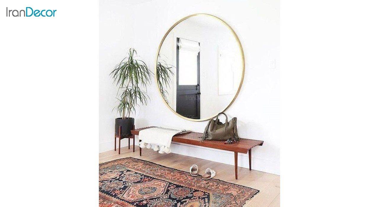 عکس آینه گرد دیواری مدل استیل 304 کد ST