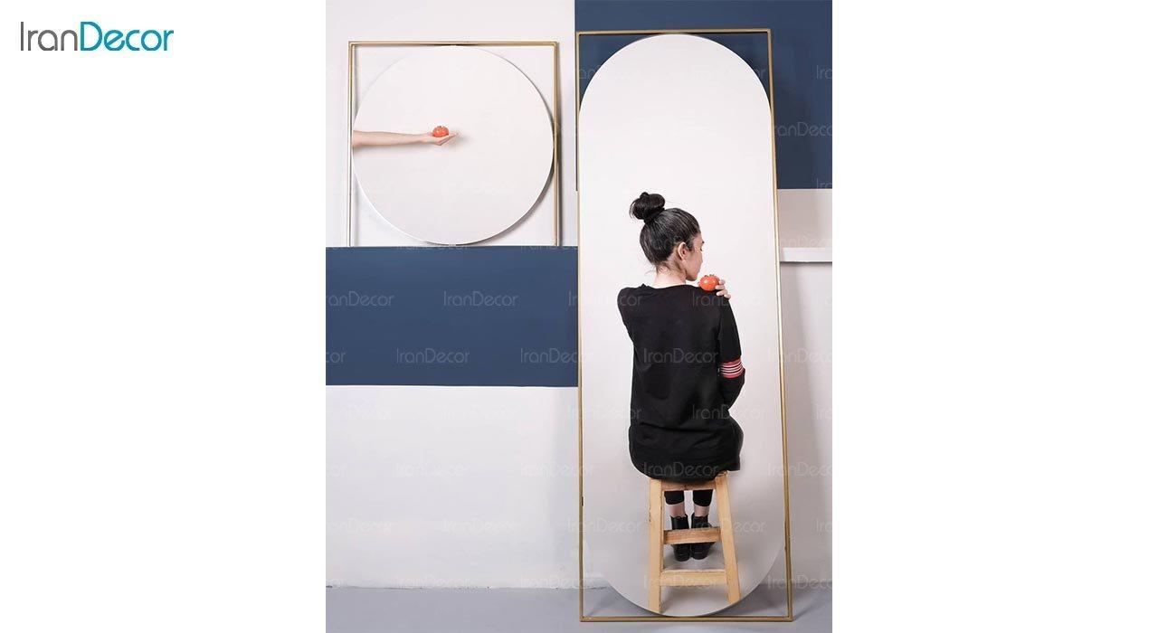 تصویر آینه قدی دیواری مدل تیدا کد TD