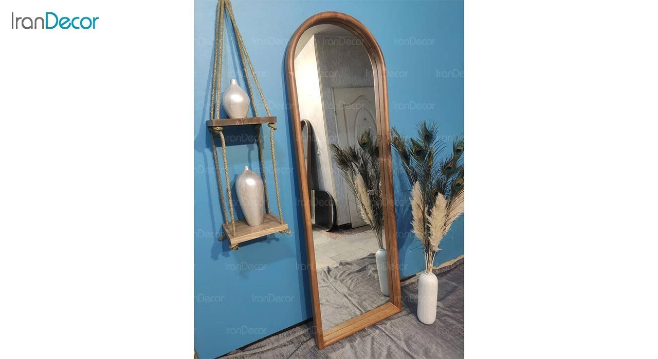 عکس آینه قدی دیواری مدل آدینه چوبی کد WAD