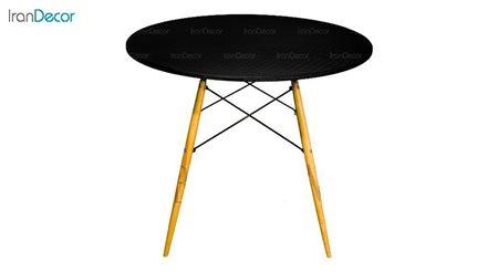تصویر میز گرد پایه چوبی بنیزان مدل TM500